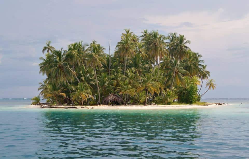 Eiland in de San Blas archipel