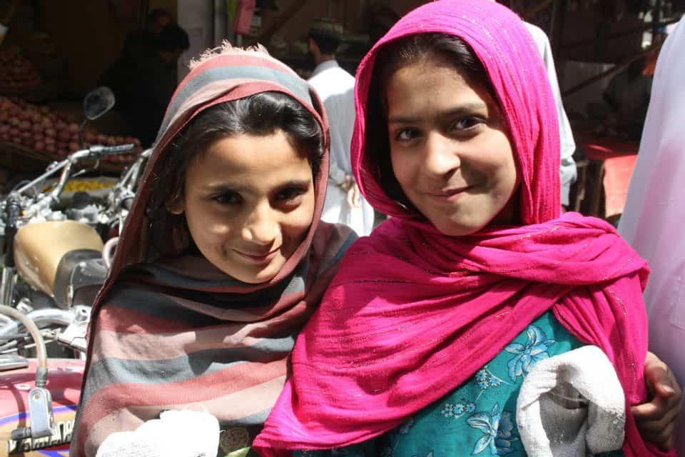 Twee Pakistaanse meisjes