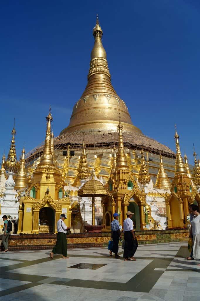 Shwedagon pagoda in Myanmar