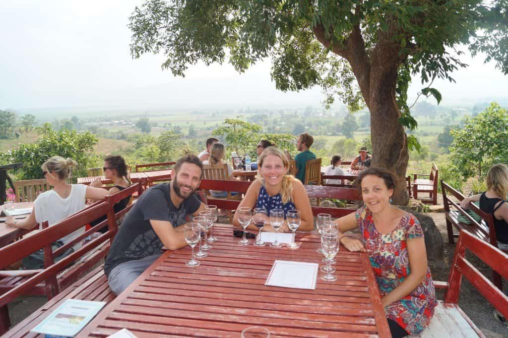 Wijnproeven in Myanmar