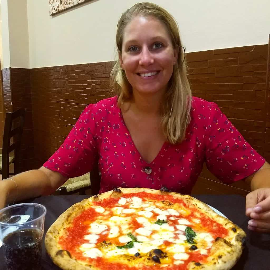 Pizza eten in Napels